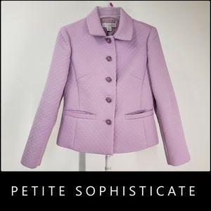Petite Sophisticate Woman Blazer Suit Size 2